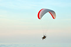 Paraglider in flight Royalty Free Stock Images