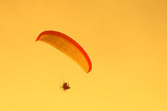 Paraglider in flight Stock Photo