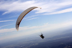 Paraglider fly Stock Photo