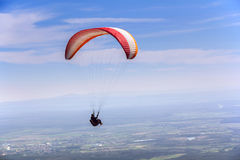 Paraglider fly Royalty Free Stock Photos