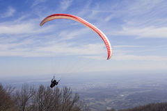 Paraglider fly Royalty Free Stock Images
