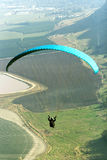 Paraglider flying. From the Gilboa mountains, Israel Stock Images