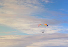 Paraglider flying blue sky Stock Photography