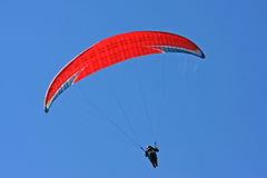 Paraglider flying Stock Photos