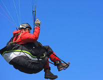 Paraglider flying Royalty Free Stock Images