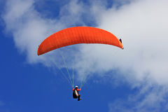 Paraglider flying Royalty Free Stock Photo