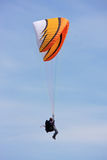 Paraglider flying Royalty Free Stock Image