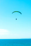 Paraglider flying in the sky, free time spent actively, wonderfu Royalty Free Stock Photos