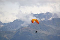 Paraglider in the French Alps Stock Images