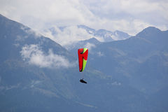 Paraglider in the French Alps Stock Image
