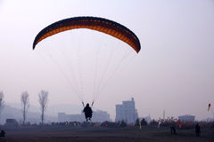 Paraglider game Royalty Free Stock Photography