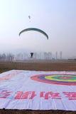 Paraglider gra Obraz Stock