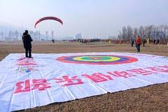 Paraglider gra Obrazy Stock