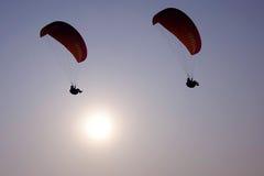 Paraglider i słońce Obraz Stock