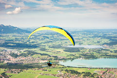Free Paraglider In The Alps Stock Photo - 59545250