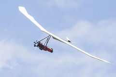 Paraglider with large wingspan above colorado springs. Paraglider with white glider in colorado Stock Photos