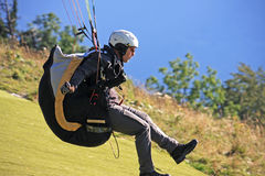 Paraglider launching Royalty Free Stock Images