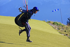 Paraglider launching Stock Photography