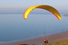 Paraglider launching Stock Images