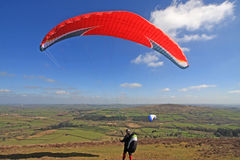 Paraglider launching wing Royalty Free Stock Images