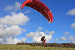 Paraglider launching wing Royalty Free Stock Image