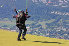Paraglider launching wing Royalty Free Stock Photography