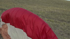 Paraglider ligado vídeos de arquivo