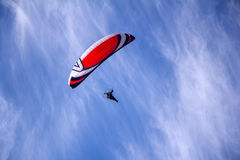 Paraglider with motor Royalty Free Stock Photos