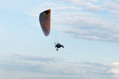 Paraglider with a motor Stock Photography