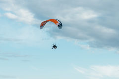Paraglider with a motor Stock Photos