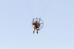 Paraglider with motor Stock Images