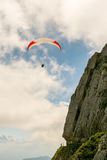 Paraglider on Mount Pilatus stock images