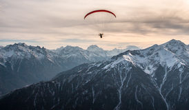 Paraglider in the mountains, The Caucasus. Stock Image
