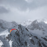 Paraglider in the mountains Royalty Free Stock Photography