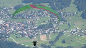 Paraglider nad Neustift Obrazy Stock
