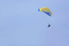 Paraglider och sol Arkivfoto
