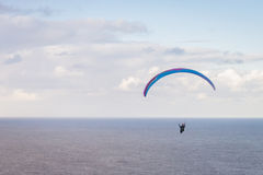 Paraglider in open skies Royalty Free Stock Images