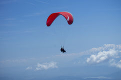 Paraglider over Austrian Alps Stock Photography