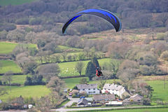 Paraglider over Dartmoor Stock Photo