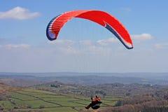 Paraglider over Dartmoor Royalty Free Stock Photo