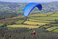 Paraglider over Dartmoor Stock Images