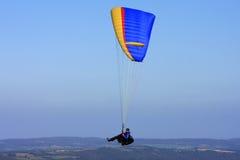 Paraglider over Dartmoor Stock Photo