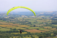 Paraglider over Dartmoor Royalty Free Stock Photo