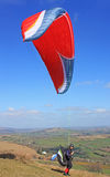 Paraglider over Dartmoor Royalty Free Stock Image