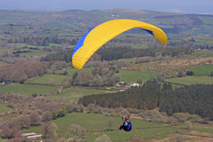 Paraglider over Dartmoor Royalty Free Stock Photography