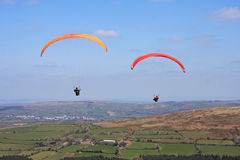 Paraglider over Dartmoor Royalty Free Stock Images