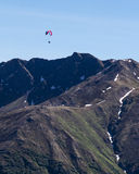 Paraglider over Hatcher Pass in Alaska Stock Photography