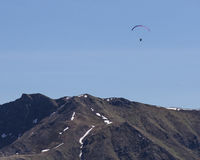 Paraglider over Hatcher Pass in Alaska Royalty Free Stock Image