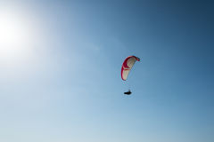 Paraglider over Kourion in Cyprus Stock Photos