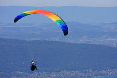 Paraglider over Lake Annecy Royalty Free Stock Image
